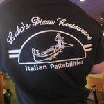 server's t-shirt