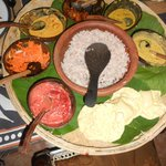 Sri Lankan curry in coconut shells