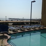 The pool is right next to the beach so you get sun, water without the hassle of sand.