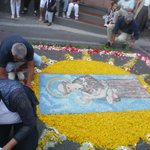 Flower image being put together in Anacapri