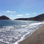 spiaggia dei Maronti: vista dalla spiaggia dell'Hotel