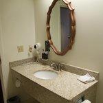 look for the soap dispenser!  I love it!  so environmentally smart