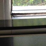 Mouldy window sealant