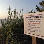 Sunset motel beach