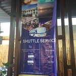 There is shuttle from and to the hotel