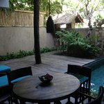 The outside area in our villa