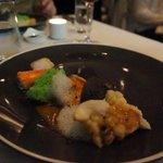 seafood sampling course