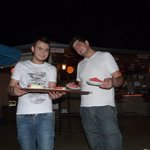 jamie and ozzy on bbq night