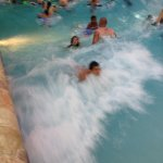 the wave pool was a hit!!