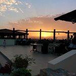Sunset on terrace