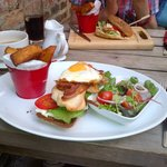 Chicken club sandwich from the special board