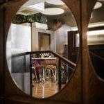 Mirror stairs restaurant