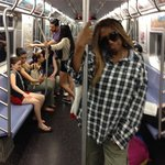 Riding the subway under BROADWAY from Canal St in Chinatown!