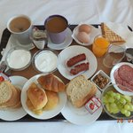 Breakfast for two at the Avra.