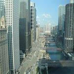Vue sur la rivière Chicago