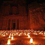 Treasury at Petra (night)