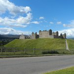 The Ruthven Barracks from the parking area