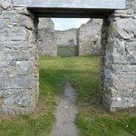 Through a doorway