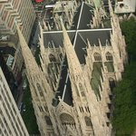The view of the Cathedral from Rockefeller Center