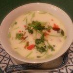 Soupe citronnelle lait de coco
