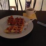 Бельгийские вафли на завтрак