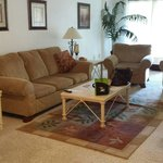 A real living room with sofa steeper