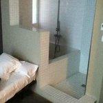 shower in bedroom