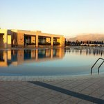 main pool in the evening