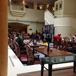 Breakfast is in the breakfast room and also the lobby