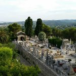 A view from the outermost view point in St Paul. Just below is the local cemetery.