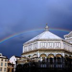 Rainbow over Baptistery