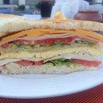 Beach restaurant: Club sandwich