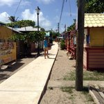 World's narrowest main road - Placencia, BZ
