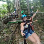 Ziplining Mystic Mountain