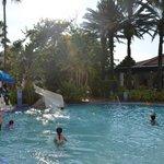 Toboágua da piscina