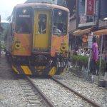 Train At Shifen Station
