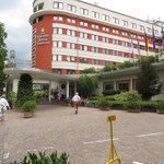 het hotel....