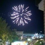 serata con fuochi d'artificio