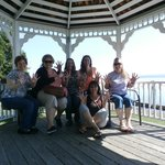 The girls in the Gazebo...