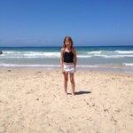 Playa frente al hotel