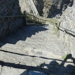 The steps at Tintagel Castle