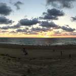 Vue sur la plage d'Ondres