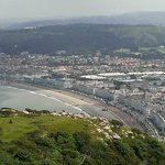Llandudno beach and town from cable car