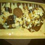 granella di mandorle, cereal mix e brownie