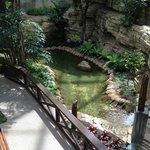 "The ""Riverwalk"" inside the hotel"