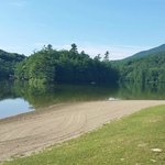 Small beach on  Emerald Lake