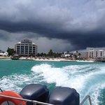 boat ride to the private island