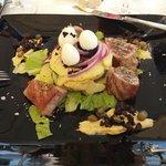 Nicoise Salad with tuna and quail eggs