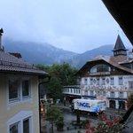 Вид с балкона утром