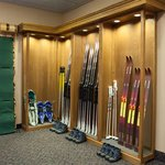 Rent cross country skis, snowshoes, sleds or toboggans from us